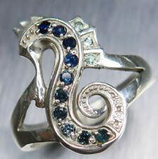 Anelli di lusso blu zaffiro , Misura anello 7
