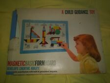 Vintage A Child Guidance Toy no. 402 Magnetic Basic Form Board - Cute Rare