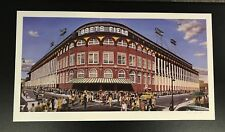 "Brooklyn Dodgers ""Outside Ebbets Field"" limited lithograph 33""x18"" Print #571"