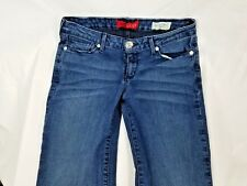 "Womens GUESS Low Rise Straight Grace Fit Jeans Sz 5 / 6 Blue Wash 30"" Inseam EUC"