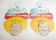 1 PANCHO Lapel Pin Yellow  1950's New Old Stock Scarce from TV's Golden Era