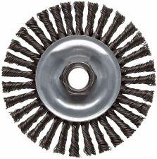 "Weiler 36018 Wire Wheel Brush, 4"", Stringer Knotted, Carbon Steel (X0739*B)"