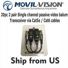 20pc 10 pair Single channel passive video balun Transceiver via Cat5e / Cat6 cab
