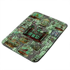 Bird Cage Castle Painting - Thick Rubber Mouse Pad/Pro-Gaming/Hot Plate/Trivet