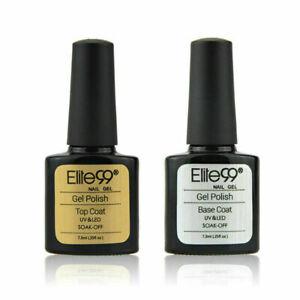Top Base Coat Manicure Lacquer Nail Art Gel Polish Primer Sealer UV LED Set