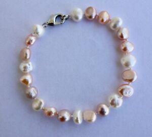 B02B Süßwasser Perlen Schmuck Perlenarmbänder Armschmuck Armbänder Collier bnmv