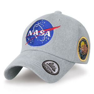 ililily NASA Meatball Logo Embroidery Baseball Cap Apollo 13 Patch Trucker Hat