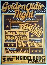 GOLDEN OLDIE NIGHT - 1980 - Konzertplakat - Tremeloes - Troggs - Dozy Beacky
