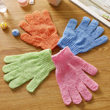 Bath Shower Gloves Five Finger Bath Magic Double Side Exfoliator Body Sponge