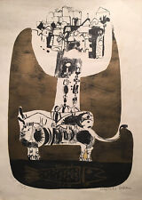 Naftali Bezem (Israeli) - Signed, numbered lithograph - 1962