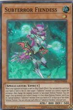 YUGIOH  HOLO CARD SUBTERROR FIENDESS FIGA-EN048 1ST EDITION