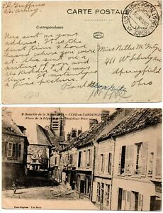 US ARMY MILITARY CENSORED World War I (1919) French Postcard *RARE*