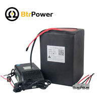 BTR 33Ah 72V  Lithium Li-ion Battery Pack for 2000W Ebike Scooter+5A Charger BMS