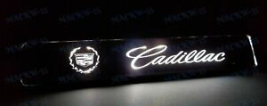For Cadillac LED Light Car Front Bumper Grille Emblem Luminescent Badge Sticker