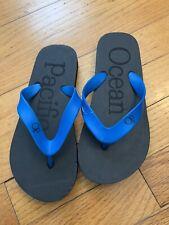 OCEAN PACIFIC Blue/Black Flip Flop Sz 2