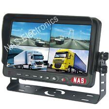 "7"" Car Reversing Rear View Quad TFT LCD Monitor Split screen View 4 Channels"