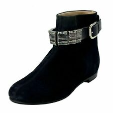 Vicini Tapeet Women's Suede Decorated Ankle Boots Shoes US 6 IT 37