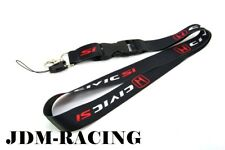For Honda CIVIC SI Black Lanyard Neck Strap Quick Release Keychain Neck Strap