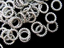 60 Pcs - 8mm Twisted Tibetan Silver Closed Jump ring Craft Beading Craft  K80