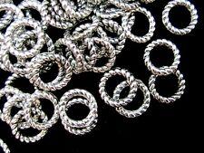 30 Pcs - 8mm Twisted Tibetan Silver Closed Jump ring Craft Beading Craft U193