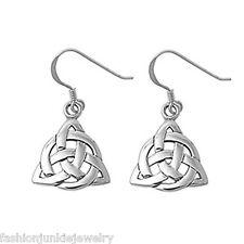 Sterling Silver - Irish Earrings *New* Celtic Knot Trinity Earrings - 925