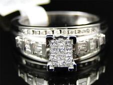 Womens 10K White Gold Princess Cut Diamond Bridal Engagement Wedding Ring .45 Ct