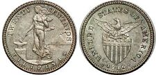 PHILIPPINES 20 CENTAVOS 1916 S KM#170 XF!!!