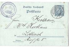 Germany: 1901; Postal Stationery, circulated, rabbit breed club EBA008