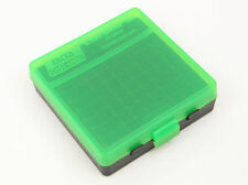 NEW MTM 100 Round Flip-Top 380/9MM Ammo Box - Green Black