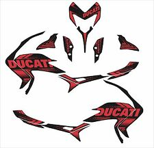 ducati hypermotard hyperstrada 939 821 decals sticker sp wrap carbon fiber dark