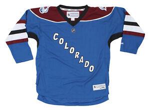 Reebok NHL Youth Colorado Avalanche Blank Alternate Jersey, Blue