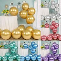 "50PCS Latex Metallic Balloons Thicken 10"" Shiny Balloons Festival Party Decor"