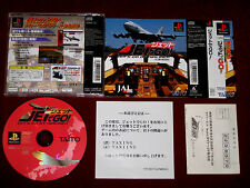 *Complete* PS1 JET DE GO! LET'S GO BY AIRLINER LIMITED EDITION NTSC-J Japan