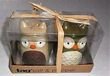 OWL  Salt and Pepper Shakers by Tag