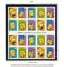 2009 44c The Simpsons Twentieth Century Fox #4399-4403 Full sheet of 20 MNH