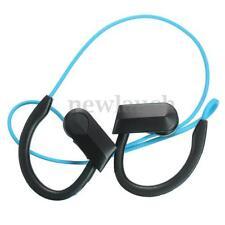 Écouteurs bleus bluetooth sans fil sports