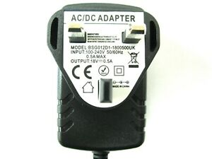 500ma 18v AC-DC Mains Regulated Power Adaptor/Supply/Charger (0.5a, 9w)