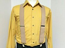 "New, Men's, Tan, XL, 2"", Adj. Suspenders / Braces, Made in the USA"