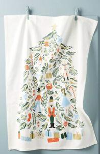 NWT Anthropologie Rifle Paper Co. NUTCRACKER Christmas Holiday Dish Towel Tea