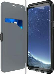 New Genuine Tech21 EVO Wallet Folio Flip Case Cover For Samsung Galaxy S8+ Plus