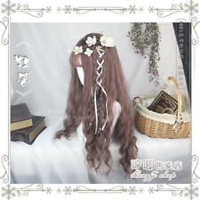 Harajuku Couples Umber Lolita Mixed Cosplay New Gradient Unisex Curly Hair Wig #