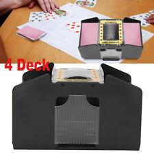 Automatic Black 4 Deck Card Shuffler Poker Cards Shuffling Machine Casino Play