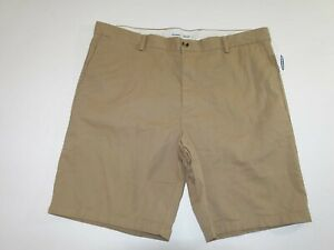 Old Navy Men's Ultimate Slim Chino Shorts Size 42 NWT Beige Khaki Flat Front