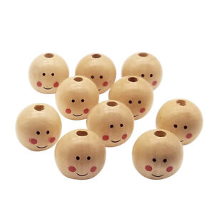 50Pc Natural Carved Wooden Thread Tube Beads Wood Spacer Loose Beads 12x10mm