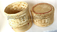 Size 3.0 inch ticky Rice Bamboo Basket Thai Lao Food Cooking Shipping Free