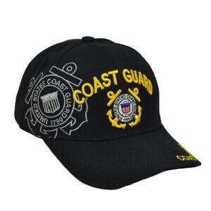 U.S United States Coast Guard Military Hat Black Cap Curved Bill Adjustable