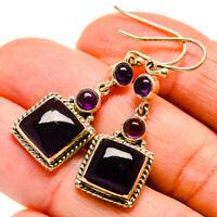 """Amethyst 925 Sterling Silver Earrings 1 5/8"""" Ana Co Jewelry E409916"""