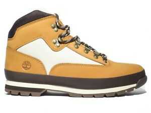 Timberland Men's Euro Hiker Leather Boots Wheat Brown Black Hiking 6528A 6529A