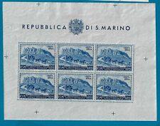 1950 San Marino 75° anniversario dell' U.P.U. - £. 200 MNH** Foglietti