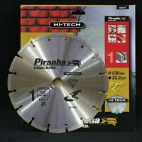 Piranha X38117 Hi-Tech 230mm Diamante Disco Lama. Calcestruzzo, Pietra, Mattone,